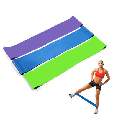 Resistance Band Loop Yoga Pilates Home GYM Fitness Exercise Workout Trainer Gift