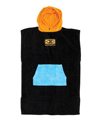 Youth size Hooded Poncho Towel - Ocean & Earth