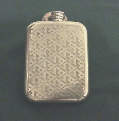 England Pewter  Flask-Made in Sheffield, England Triangle Design 6oz