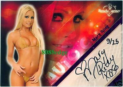 2008 Benchwarmer Limited Pink Foil Auto: Mary Riley #9/25 Autograph