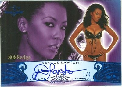 2010 Benchwarmer Blue Auto #73A: Denyce Lawton #1/5 Siganture Series Autograph