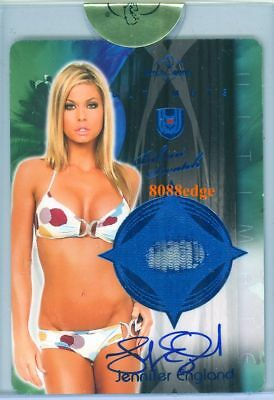 2010 Benchwarmer Ultimate Plate Dual Auto: Jennifer England 1/1 Autograph