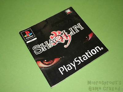 Playstation PS1 Instruction Manual - Shaolin *No Game*