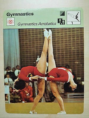 GYMNASTICS ACROBATICS Sportscaster Rencontre Fact Card -  Rare