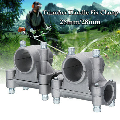 26mm 28mm Tube Handle Fix Bracket Clamp Fit For Strimmer Trimmer Brush Cutter