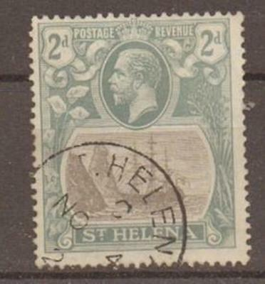 ST.HELENA SG100a 1923 2d BROKEN MAINMAST FINE USED