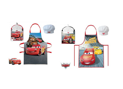 Childrens Boys Disney Cars 2 Piece Cook Baking Chef Set Includes Apron And Hat