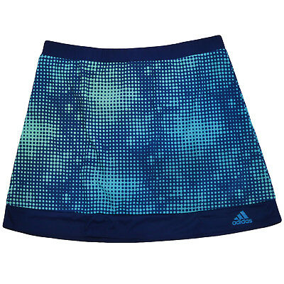 adidas Performance Girls Kids Junior Tennis Skort Skirt With Undershorts - Blue