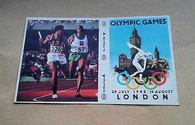 Munich 1972 Olympic Games Esso Sticker #15 London 1948 #40 Lee Evans 1968 Vgc