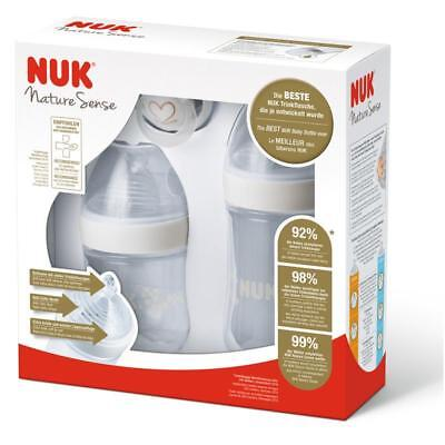 NUK Nature Sense Baby Milk Formual Bottle & Orthodontic Soother Gift Set 0-18m