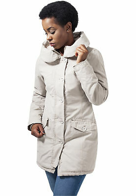Ladies Garment Washed Long Parka Urban Classics Streetwear Giacca Invernale