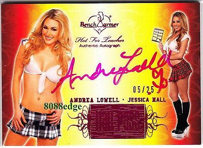 2011 Hot For Teacher Hall Pass Auto: Andrea Lowell #5/25 Pink Autograph Playboy