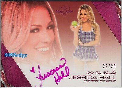 2011 Benchwarmer Pink Auto: Jessica Hall #22/25 Playboy Cyber Girl Autograph Hft