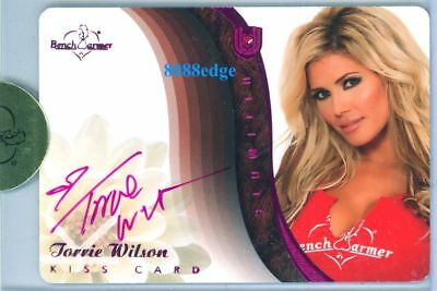 2010 Benchwarmer Ultimate Dual Auto Plate: Torrie Wilson 1/1 Autograph