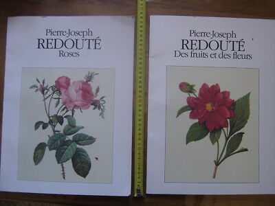 1991 Marianne Bernhard ROSES FRUITS FLEURS flowers P J Redoute Ed LAZARUS