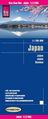Reise Know-How Landkarte Japan (1:1.200.000): world mapping project Reise K ...