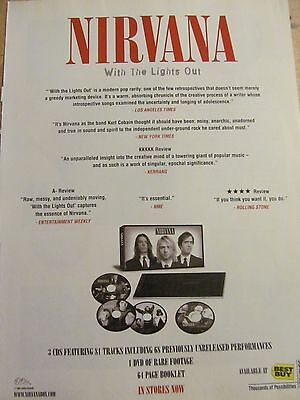Nirvana, With the Lights Out, Full Page Vintage Promotional Ad