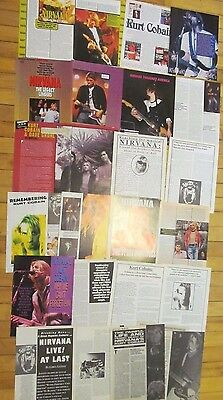Nirvana, Lot of TWELVE Two Page Vintage Clippings