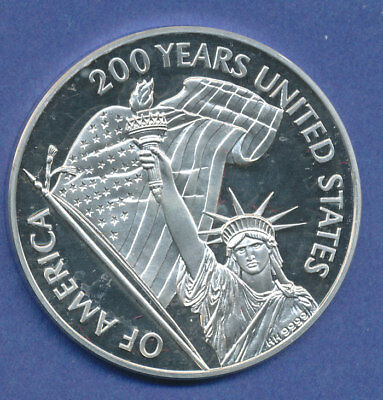 USA Silber-Medaille 1976: 200 Jahre USA Declaration of Independence PP proof
