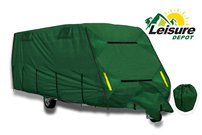 Leisure Depot Premium Caravan Cover 6.48m 19-21ft Heavy Duty 4 Ply Breathable