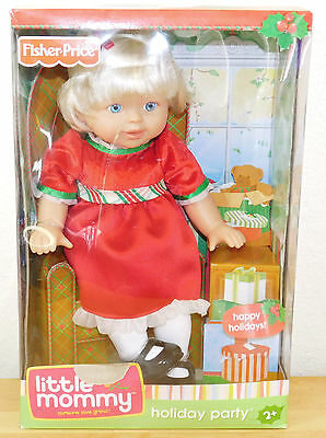 Retired HOLIDAY PARTY CHRISTMAS Little Mommy Blonde Doll Fisher Price NEW