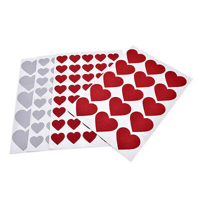 Fashion Heart-shaped Paper Sticker New Creative Postcards Love Letter FG