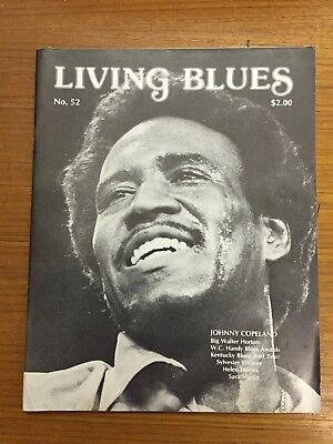 LIVING BLUES magazine (1982) Johnny Copeland (cover), early Kentucky blues .. EX