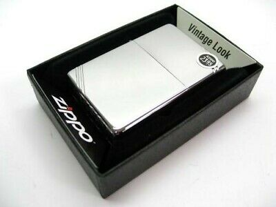 ZIPPO High POLISH Chrome Vintage Series 1937 w/ Slashes Windproof Lighter! 260