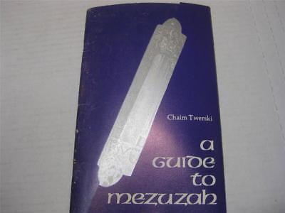 "Mezuza a guide to writing S""TaM english Jewish book Guide to MEZUZAH"