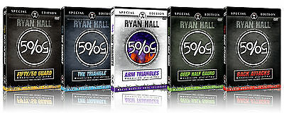 Ryan Hall Brazilian Jiu-Jitsu 5 Pack DVD Combo, All Brand New Sets!