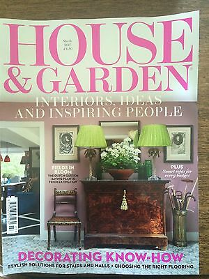 House and Garden home/lifestyle/interiors magazine, March 2017