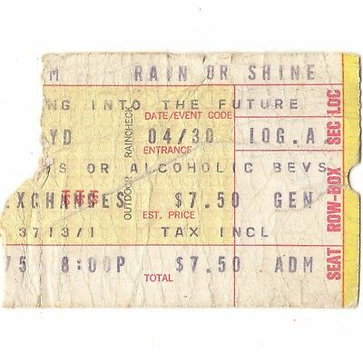 PINK FLOYD Concert Ticket Stub MILWAUKEE WI 6/22/75 WISH YOU WERE HERE TOUR Rare