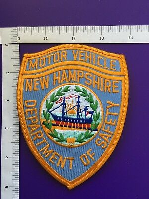 New Hampshire Dept Of Safety  Motor Vehicle  Shoulder Patch