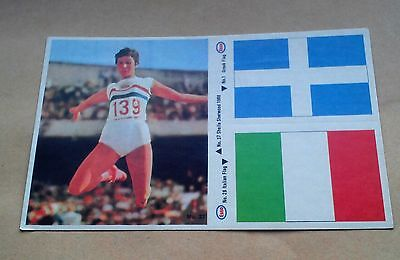 Munich 1972 Olympics Esso Sticker #1 Greek Flag #26 Italy #37 Sheila Sherwood Gb