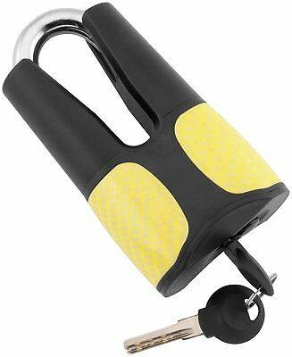 Bully Locks Motorcycle Disc Lock Black/Yellow Carbon 12mm