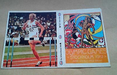 Munich 1972 Olympic Games Esso Sticker #6 Stockholm 1912 #39 David Hemery 1968