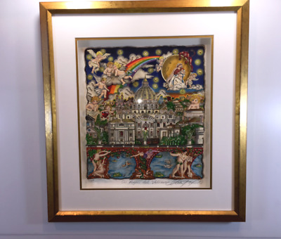 """Charles Fazzino """"The Italy Suite: Rome """" AP Edition Limited 3-D Pop Art Framed"""