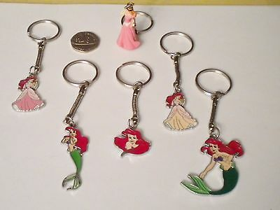 Disney Princess Ariel The Little Mermaid Enamel Pendant Charm Keyring/key Chain