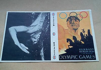 Munich 1972 Olympic Games Esso Sticker #13 Berlin 1936 #28 M Rose 1960 Unused Vg