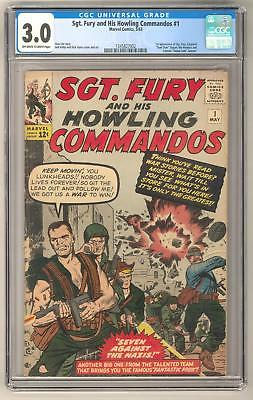Sgt. Fury and His Howling Commandos #1 CGC 3.0 1st Appearance Nick Fury