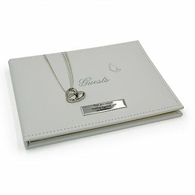 Personalised Wedding Guest Book Gift With Rings 71144-P