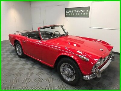 1968 Triumph TR4A TR4A Roadster 1968 TRIUMPH TR4A. RED/BLACK. NICELY RESTORED, SHARP LOOKING CAR. 73,565 MILES.