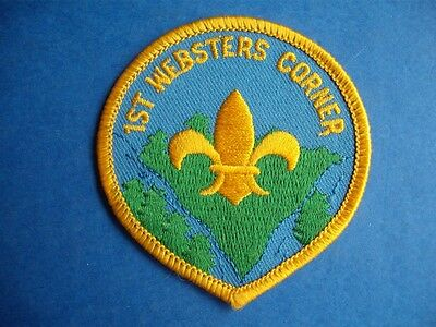 Boy Scouts 1St Websters Corner Bc Canada Vintage Badge Patch