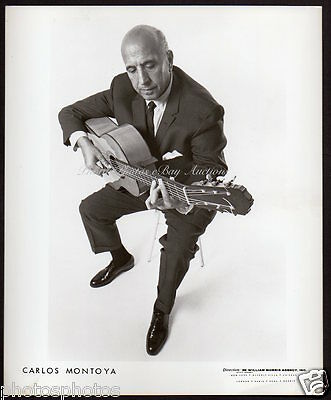 CARLOS MONTOYA Spanish Flamenco Guitarist VINTAGE ORIG PUBLICITY PHOTO