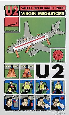 "U2 Virgin shop 2000 16"" x 12"" Photo Repro Promo Poster"