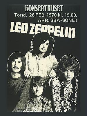 "Led Zeppelin German 16"" x 12"" Photo Repro Concert Poster"