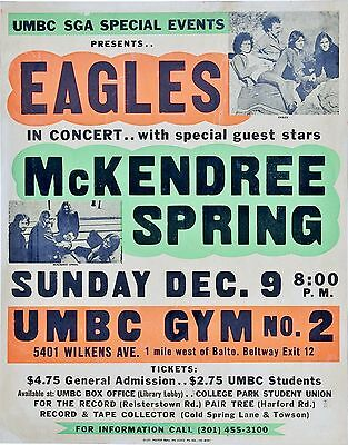 "The Eagles umbc University 16"" x 12"" Photo Repro Concert Poster"