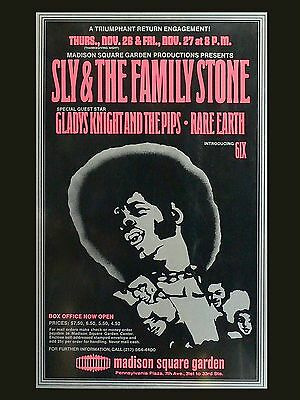 "Sly and the family stone New York 16"" x 12"" Photo Repro Concert Poster"