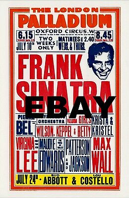 "Frank Sinatra London Palladium 16"" x 12"" Photo Repro Concert Poster"