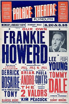 """Frankie Howard Plymouth 16"""" x 12"""" Photo Repro Concert Poster"""
